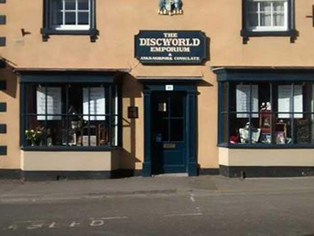 Sir Terry Pratchett, Discworld Emporium, WIncanton