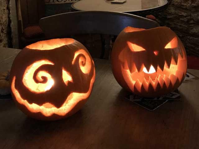 Halloween Pumpkins at The Trooper Inn